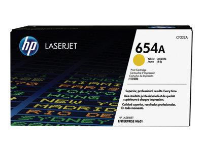 HP 654A Yellow Original LaserJet Toner Cartridge