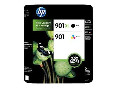 HP 901 High Yield Black & Standard Capacity Colour Ink Cartridge