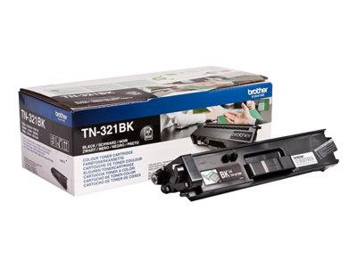 Brother TN-321BK Black Toner Cartridge 2.5k Yield