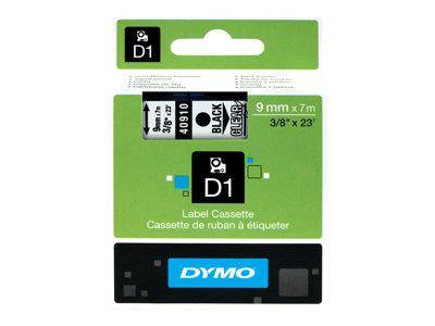 DYMO D1 Tape 9mm Black on Transparent
