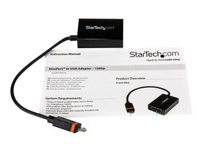StarTech.com SlimPort / MyDP to VGA Video Converter – Micro USB to VGA Adapter for HP ChromeBook 11