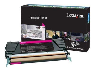 Lexmark C748H3MG Magenta High Yield Toner Cartridge 10k Yield