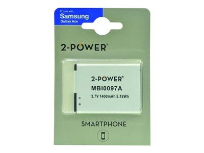 2-Power Generic Smartphone Battery 3.7V 1300mAh