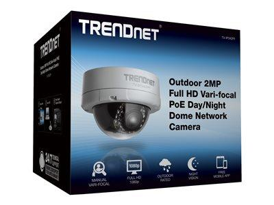 TRENDnet Outdoor 2MP FHD Vari-Focal PoE Day/Night Dome Network Camera