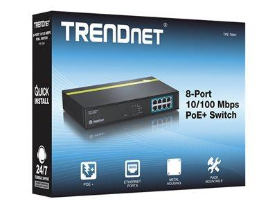 TRENDnet 8-port 10/100Mbps PoE+ Switch