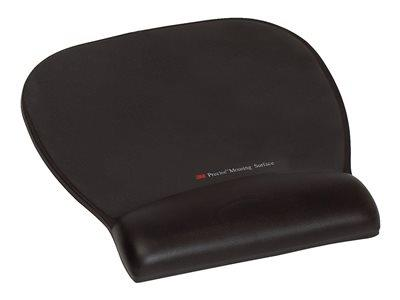 3M Precise Mousing Surface with Leatherette Black Gel Wrist-Rest