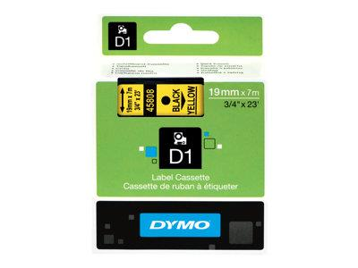 DYMO D1 Tape Black on Yellow