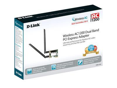 D-Link DWA-582 Wireless AC1200 DualBand PCIe Adapter