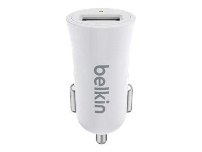 Belkin Premium Ultra-Fast 2.4Amp USB Car Charger - White