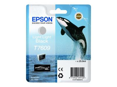 Epson T7609 Light Black Ink Cartridge SureColor SC-P600 Printer
