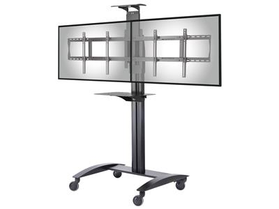 "Peerless-AV Video Conference Cart w/Metal Shelf for Two 40"" to 55"""