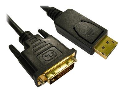 Cables Direct 1m DisplayPort to DVI-D M-M Single Link Black Cable B/Q 130