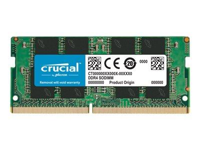 Crucial 8GB DDR4 SO-DIMM 260-pin 2400 MHz/PC4-19200 CL17 1.2V unbuffered non-ECC