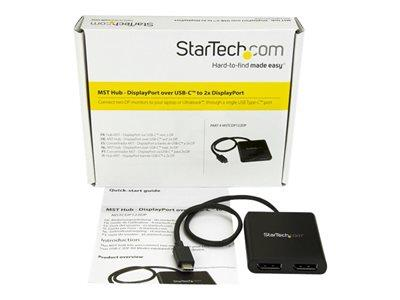 StarTech.com USB-C to DisplayPort MST Hub - 2-Port