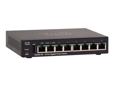 Cisco Small Business SG250-10P Switch Smart 8 x 10/100/1000