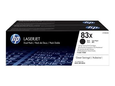 HP 83X 2pk High Yield Black Original