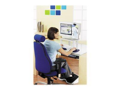 Kensington Memory Gel Mouse Pad with Integrated Wrist Support Q- Blue