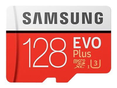 Samsung 128GB EVO Plus Class 10 microSDXC card with SD adapter