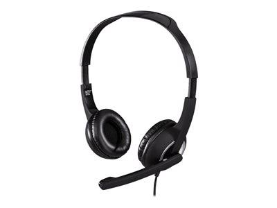 Hama Over Ear Headphones Black/Silver - 2M Cord