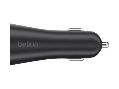 Belkin Dual USB Car Charger  2 x 2.4Amp - Black