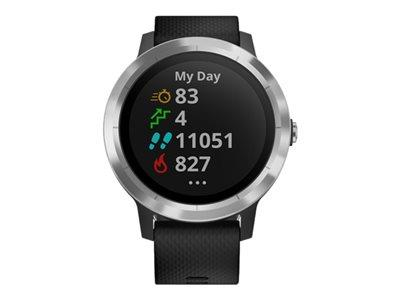Garmin Vivoactive 3 Smartwatch Black Silicone Stainless Steel
