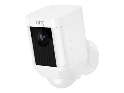 Ring Spotlight Cam Battery Security Camera - White