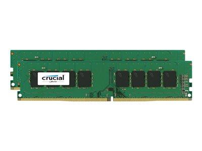 Crucial 32GB Kit (16GBx2) DDR4 2400 MT/s (PC4-19200) CL17 DR x8 Unbu