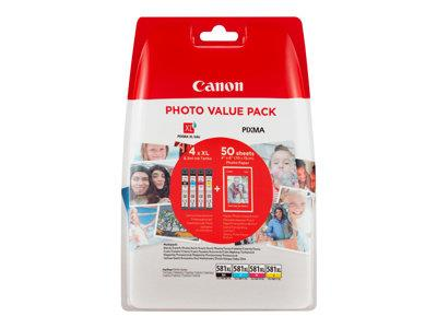 Canon CLI-581XL C/M/Y/BK Photo Value Pack  4 Pack