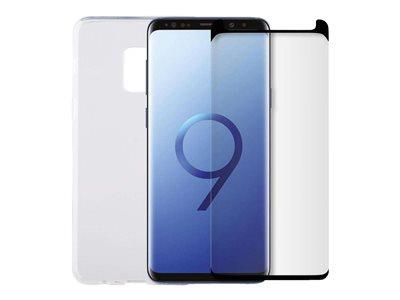 Minute One Galaxy S9+ - Glass Screen Protector + Clear Case Bundle