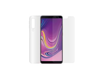 Minute One Galaxy A9 - Glass Screen Protector + Clear Case Bundle