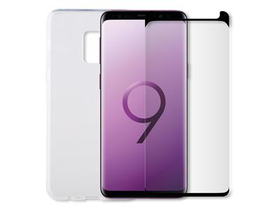 Minute One Galaxy S9 - Glass Screen Protector + Clear Case Bundle
