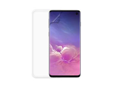 Minute One Galaxy S10 - Glass Screen Protector + Clear Case Bundle