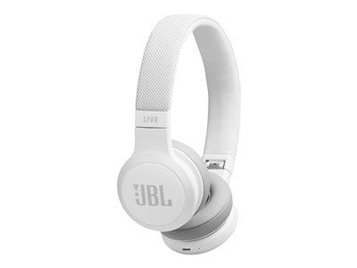 JBL Live 400 On-Ear Wireless Headphones - White