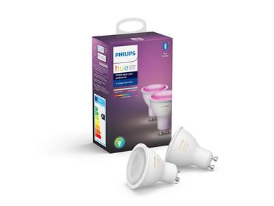 Philips Hue White and Colour Ambiance GU10 Twin Pack