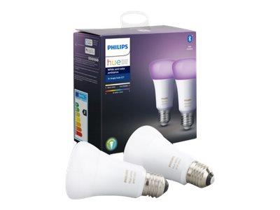 Philips Hue White and Colour Ambiance E27 Twin Pack