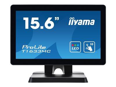 "iiyama ProLite T1633MC-B1 15.6"" 1366x768 8ms VGA HDMI DisplayPort Touchscreen LED Monitor"