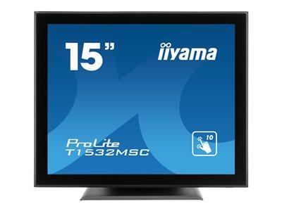 "iiyama ProLite T1532MSC-B5X 15"" 1024x768 8ms VGA HDMI DisplayPort Touchscreen LED Monitor"