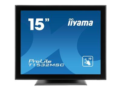 "iiyama ProLite T1532MSC-B5AG 15"" 1024x768 8ms VGA HDMI DisplayPort Touchscreen LED Monitor"