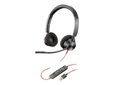 Plantronics Blackwire 3320 Duo On-Ear Wired USB Headset