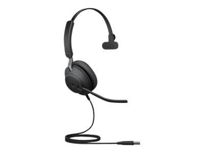 Jabra Evolve2 40 USB-A MS Mono Headset - Black