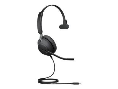 Jabra Evolve2 40 USB-C MS Mono Headset - Black