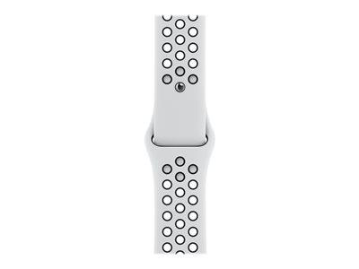 Apple Watch Nike Series 6 GPS, 44mm Silver Aluminium Case with Pure Platinum/Black Nike Sport Band