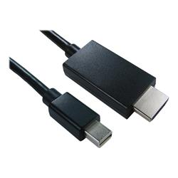Cables Direct 1m Mini DisplayPort to HDMI M-M Cable Black - B/Q 160