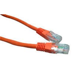 Cables Direct Orange 0.5m Network 5E 26AWG Moulded Boot